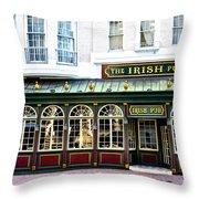 The Irish Pub - Philadelphia Throw Pillow by Bill Cannon