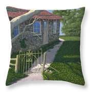 The Iron Gate Throw Pillow by Gary Giacomelli