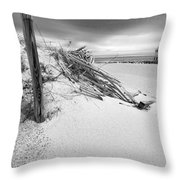The Jetty Throw Pillow by Michelle Wiarda