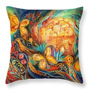 The Key Of Jerusalem Throw Pillow by Elena Kotliarker