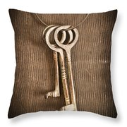 The Keys Throw Pillow by Edward Fielding