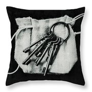The Keys Throw Pillow by Marco Oliveira