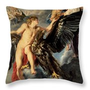 The Kidnapping Of Ganymede Throw Pillow by Rubens