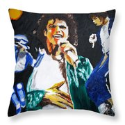 The King Of Pop Michael Jackson Throw Pillow by Ronald Young