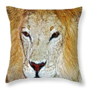 The King Throw Pillow by Susan Leggett