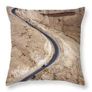 The King's Highway At Wadi Mujib Jordan Throw Pillow by Robert Preston