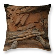 The Ladder Down Into Sapupu Canyon Throw Pillow by Jeff Swan