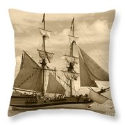 The Lady Washington Ship Throw Pillow by Kym Backland