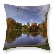 The Lagoon - Boston Public Garden Throw Pillow by Joann Vitali