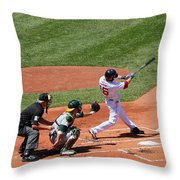 The Laser Show Dustin Pedroia Throw Pillow by Tom Prendergast