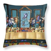 The Last Supper Throw Pillow by Anthony Falbo