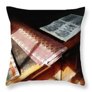 The Latest Fashion Throw Pillow by Susan Savad