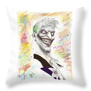 The Laughing Man Throw Pillow by Wave