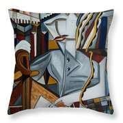 The Lawyer Statue Of Freedom Throw Pillow by Karen Serfinski