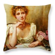 The Letter  Throw Pillow by George Goodwin Kilburne