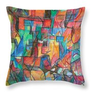 The Letter Tav 2 Throw Pillow by David Baruch Wolk