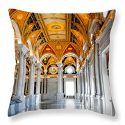 The Library Throw Pillow by Greg Fortier