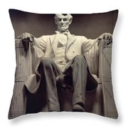 The Lincoln Memorial Throw Pillow by Daniel Chester French