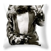 The Lion  Robert Plant Throw Pillow by Iconic Images Art Gallery David Pucciarelli
