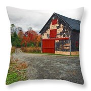 The Little Barn Throw Pillow by Marcia Colelli