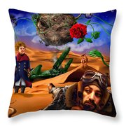 The Little Prince - Le Petit Prince Throw Pillow by Alessandro Della Pietra