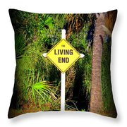 The Living End Throw Pillow by Carla Parris