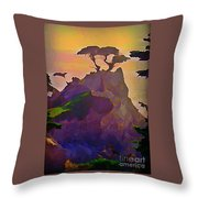 The Lone Cypress Throw Pillow by John Malone