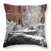 The Lone Sentinel - Spokane Washington Throw Pillow by Daniel Hagerman