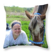 The Love Of Pets Throw Pillow by Tiffany Erdman