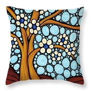 The Loving Tree Throw Pillow by Sharon Cummings