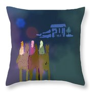 The Magi Throw Pillow by Arline Wagner