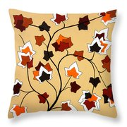 The Magnolia House Rules Throw Pillow by Oliver Johnston
