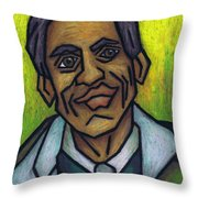 The Man With The Golden Voice Throw Pillow by Kamil Swiatek