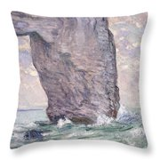 The Manneporte Seen From Below Throw Pillow by Claude Monet
