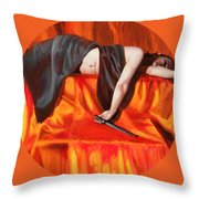 The Martyr Throw Pillow by Shelley Irish