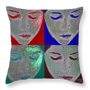 the mask Throw Pillow by Stylianos Kleanthous