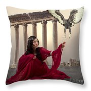 The Message Bearer Throw Pillow by Linda Lees