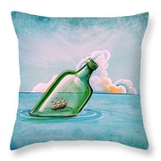 The Messenger Throw Pillow by Cindy Thornton