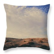 The Miles Between Us Throw Pillow by Laurie Search