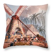 The Millyard, From Ten Views Throw Pillow by William Clark