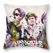 The Monkees Throw Pillow by Aged Pixel