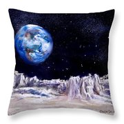 The Moon Rocks Throw Pillow by Jack Skinner