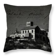 The Most Haunted House In Spain. Casa Encantada. Welcome To The Hell Throw Pillow by Jenny Rainbow