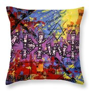 The Name Of God Throw Pillow by Anthony Falbo