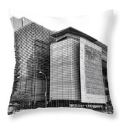 The Newseum Throw Pillow by Olivier Le Queinec