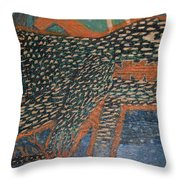 The Non-erring Line Is A Papercut Throw Pillow by Nancy Mauerman