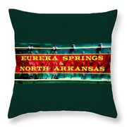 The North Arkansas Line Throw Pillow by Benjamin Yeager