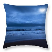 The Ocean Moon Throw Pillow by Bill Wakeley