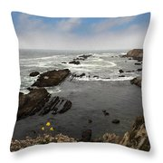 The Ocean's Call Throw Pillow by Laurie Search