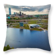 The Oklahoma River Throw Pillow by Cooper Ross